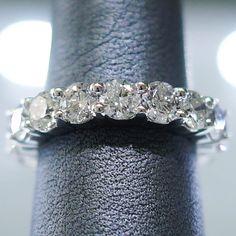 5 Carat Diamond Eternity Wedding Band in 14k White Gold Size 6