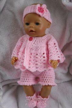 Crochet pattern for 17 inch baby doll by petitedolls