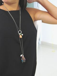 How to make a Focal Point Necklace | Alonso Sobrino Hnos. Co. & Inc. Druzy Beads and Fabrics