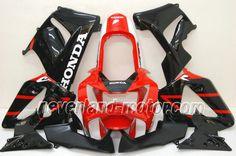 Carenado de ABS de Honda CBR900RR 929 2000-2001 - Rojo/Negro