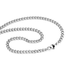 """Chuvora Men's Stainless Steel 6mm Extra Flat Curb Link Chain Necklace w/ Lobster clasp - Length 22"""" Chuvora. $14.99. Packaging: Black Velvet Pouch. Solid and Polished look. Material: Stainless Steel. Width: 6mm Length: 22"""". Save 64%!"""