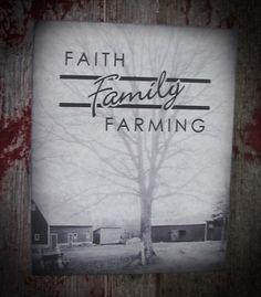 Faith Family Farming Wood Sign Plaque by HeartlandSigns on Etsy, $12.51
