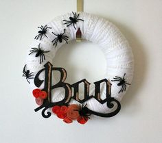 Boo wreath by Superduper