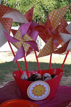 sunshine party pinwheels
