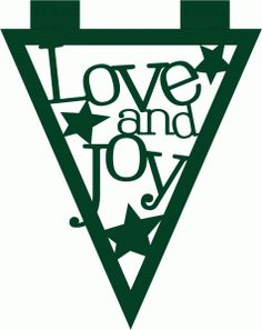 Silhouette Design Store - View Design #52210: love and joy banner