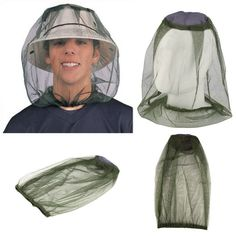 NEW Mosquito Hat Net Insect netting Repel Flees Ticks Mosquito Made in USA NEW