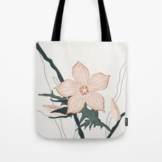 Summer flower Tote Bag Cute Presents, Gifts For An Artist, Yoga Bag, Printed Tote Bags, Summer Flowers, Neutral Colors, Beach Towel, Laptop Sleeves, Hand Sewing