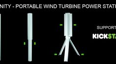 Trinity, a portable wind turbine power station for charging USB devices