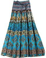 DEHANG Women's Striped Maxi Skirt