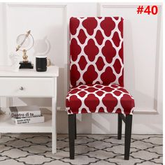 Decorative Chair Covers for Dining Room washable Slipcovers Dining Room Chair Covers, Dining Chair Slipcovers, Dining Room Chairs, Desk Chair, Stretch Chair Covers, Seat Covers, Family Dining Rooms, Living Room, Used Chairs