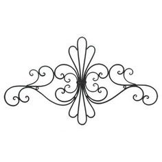 """Bring a touch of elegance to your living room or entryway with this eye-catching metal wall decor, showcasing a scrollwork design and black finish.  Product: Wall decorConstruction Material: MetalColor: Black Features: Scrollwork designDimensions: 15.25"""" H x 26"""" W x 1.5"""" D"""