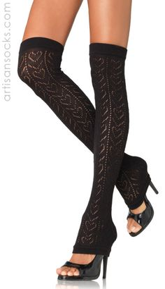 Acrylic heart print thigh high leg warmers, Leg Warmer by Leg Avenue Thigh High Leg Warmers, Thigh High Socks, Thigh Highs, Nylons, Sweetheart Bridal, Crochet Leg Warmers, Creation Couture, Leggings, Black Heart