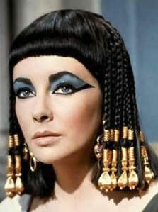 She catapulted the beauty scene with her exotic eye makeup and hair beads. The most famous interpretation of Cleopatra was the 1963 film version starring Elizabeth Taylor.