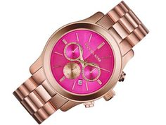 Michael Kors Oversize Rose Golden Stainless Steel Runway Chronograph Watch * Visit the image link more details.