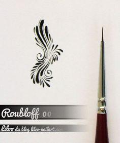 roub00 Arabesque, One Stroke Nails, Nails First, Retro, Nail Care, Swirls, Nail Art Designs, Drawings, Blog