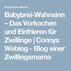 Babybrei-Wahnsinn – Das Vorkochen und Einfrieren für Zwillinge | Connys Weblog - Blog einer Zwillingsmama