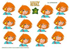 Hexe Lilli the Witch expressions2 by Skudo on DeviantArt