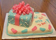 Gender reveal baby shower cake — Baby Shower