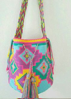 Crochet Bags, Crochet Clothes, Knit Crochet, Tapestry Bag, Tapestry Crochet, Bohemian Bag, Sewing Equipment, Chart Design, Poufs