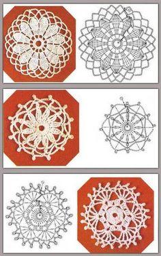 40 Esquemas Crochet de Motivos Circulares   Todo crochet