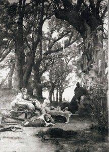 liste calendaire des arbres vénérés par les druides :