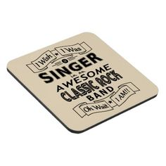 SINGER awesome classic rock band (blk) Coaster - metallic style stylish great personalize