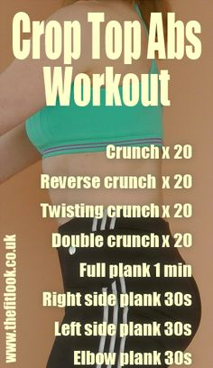 Do this abs workout every day for 4 weeks for summer crop top ready abs