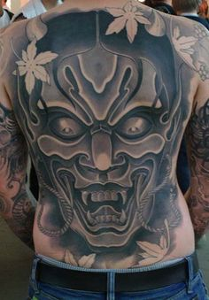 Tattoo Special Woman: Black Face Tattoos on Hinder Man