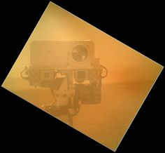 On Sol 32 (Sept. 7, 2012) the Curiosity rover used a camera located on its arm to obtain this self portrait.