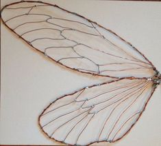 Diy Crafts - For bug theme bathroom-Fairy insect cicada wings LARGE decor Wire Crafts, Diy And Crafts, Diy Fairy Wings, Insect Wings, Dragonfly Wings, Fairy Dolls, Wire Art, Faeries, Metal Art