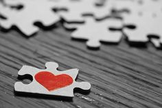 Puzzle Piece Heart | We Heart It | heart, love, and puzzle