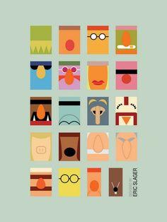 Minimalist Muppets - Portrait | Eric Slager