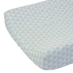 Caden Lane Baby Bedding - Changing Pad Cover - Mint Triangles, $38.00 (http://cadenlane.com/changing-pad-cover-mint-triangles/)