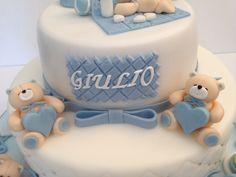 baptism bear cake