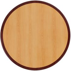 Flash Furniture 36'' Round Two-Tone Resin Cherry and Mahogany Table Top