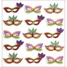 Mardi Gras Masks Jolee's Mini Repeats Stickers E5021186