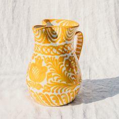 Ceramic Pitcher, Ceramic Mugs, Ceramic Pottery, Pottery Art, Ceramic Art, Pottery Painting Designs, Pottery Designs, Paint Designs, Pottery Ideas