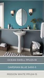 Ideas Apartment Bathroom Ideas Color Schemes Blue Accent Walls For 2019 Bathroom Colors, Kitchen Colors, Bathroom Ideas, Kitchen Ideas, Bathroom Green, Bath Ideas, Beige Bathroom, Bathroom Wall, Small Bathroom