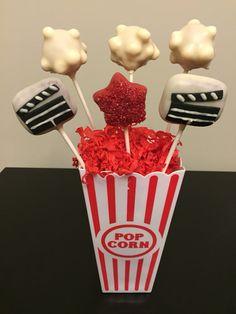 Movie themed cake pops.