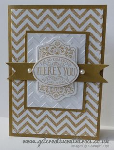 Baked Brown Sugar Chevron and Chalk Talk Card by Independent Stampin' Up! Demonstrator Traci Cornelius of www.getcreativewithtraci.co.uk