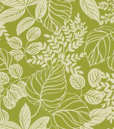 Home Decor Fabric-Waverly Terrarium Leaf (reg $29.99 yd) Can't decide if I like this or it looks like it belongs on the set of Hawaii Five-0.