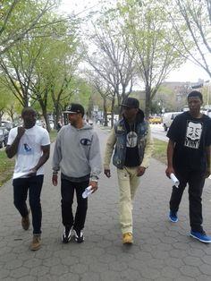 The crew: Caesar, Nando, Lamik, Bilal