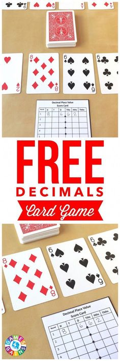 My students love this fun and easy-to-prep decimals card game! Works great for practicing decimal place value! #mathtutoring