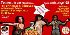 """""""Ni princesas ni esclavas"""" de Humberto Robles, es una obra estilo cabaret-cómico, de crítica social fuerte y apasionada, pero muy divertida.  Una puesta en escena cruda e irreverente, de humor ácido; que en dos actos, tres mujeres comparten con el público historias típicas de mujeres y su rol en la sociedad. El sábado 23 de mayo a las 9:30 pm la podremos disfrutar con la Compañía Celta Teatro en QuisQueya eco-arte-café. ¡Altamente recomendable!"""