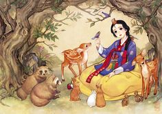 Our fave Disney stories and fairy tales got an unbelievably gorgeous East Asian makeover: Snow White