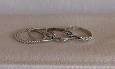 Twisted Rope Design STERLING SILVER Ring by TheBleuGiraffe on Etsy, $10.00