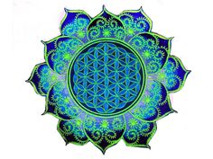 Image result for blume des lebens tattoo blume des lebens blue flower of life caleidoscope mandala holy geometry patch sacred art altavistaventures Choice Image