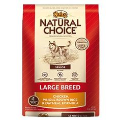 NUTRO NATURAL CHOICE Large Breed Senior Dog Food Chicken Whole Brown Rice  Oatmeal Recipe 30 lbs ** You can find more details by visiting the affiliate link Amazon.com.