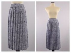 Pleated Midi Skirt  Size Small Navy and by TheBirdcageVintage, $39.99  #etsy #vintage