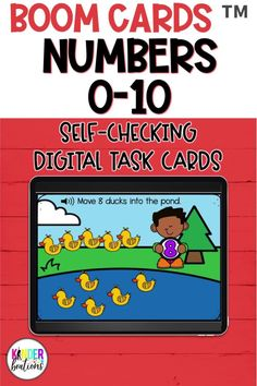 This bundle of math Boom Cards ™ includes 6 different decks with audio directions and focuses on counting and number recognition for numbers 0-10. These self-checking digital task cards are perfect for your kindergarten, first grade, or preschool learners. They can be used for distance learning, home learning, or in the classroom. #kindergarten #boomcards #mathcenters #preschool #kindergartenmath